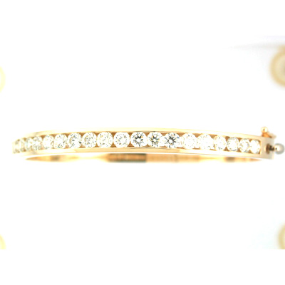 View 14K Yellow  or White  Gold<BR>  Bangle